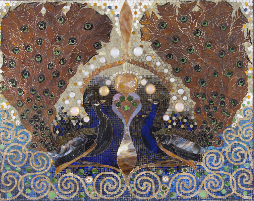 history of mosaic art, glass