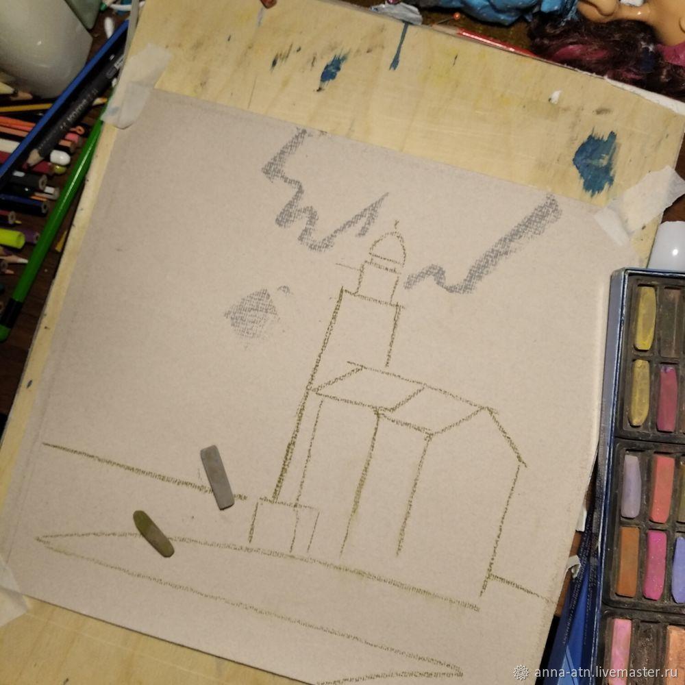 Мастер-класс картина  «Маяк»  сухой пастелью, фото № 1
