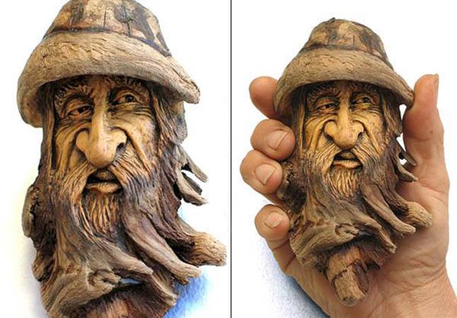 Нэнси Татл превращает коряги и обломки деревьев в сказочные деревянные скульптуры, фото № 26