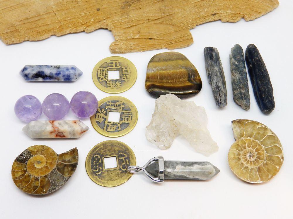 наборы камней, кристаллы