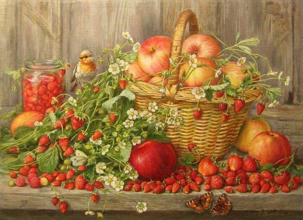 Спелая клубника в картинах замечательных художников – Ярмарка Мастеров<br />
