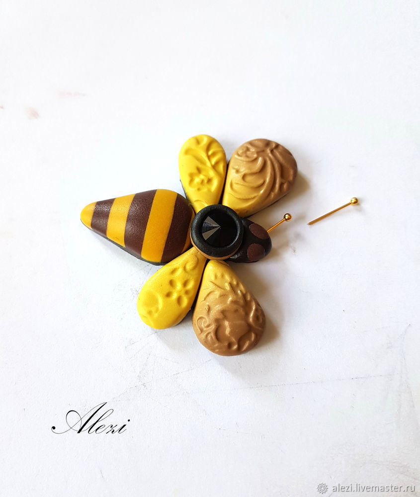 Creating Bee Brooch from Polymer Clay, фото № 10