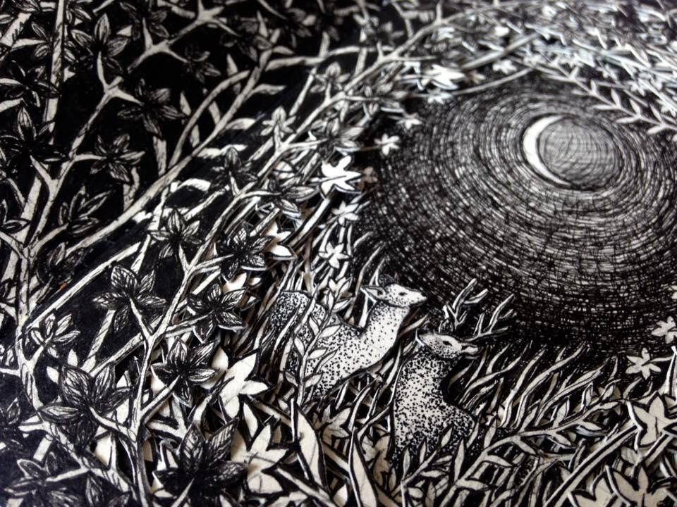 Isobelle Ouzman создаёт удивительные многослойные композиции, вырезанные из старых книг, фото № 40
