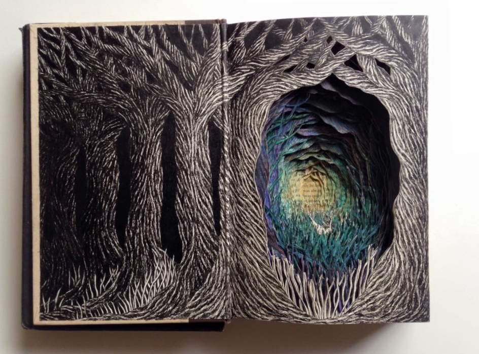 Isobelle Ouzman создаёт удивительные многослойные композиции, вырезанные из старых книг, фото № 28