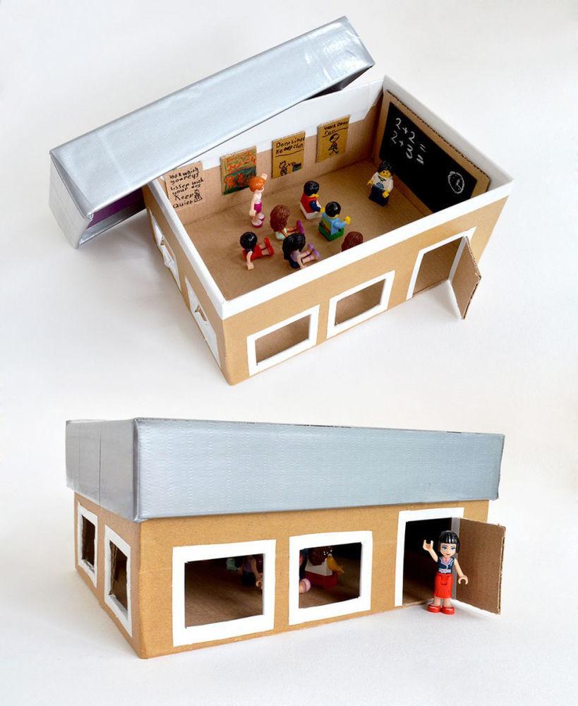 Универсальная игрушка: 30 способов занять ребенка с помощью картонной коробки – Ярмарка Мастеров<br />