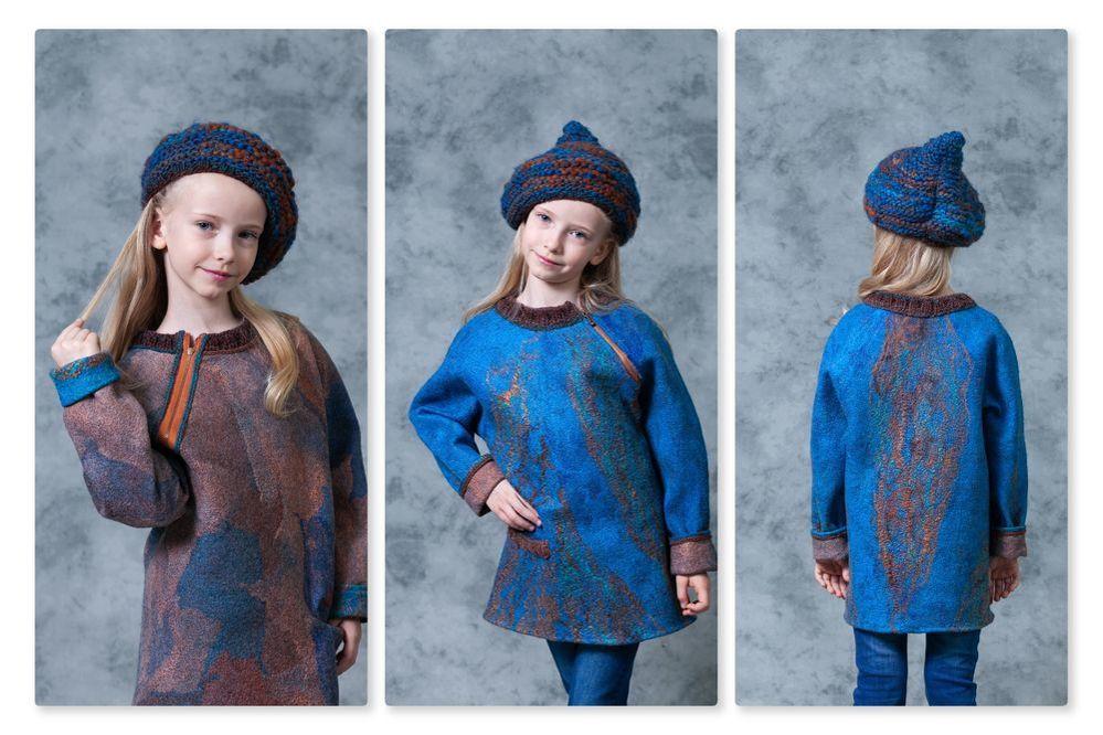 одежда из войлока, детское платье