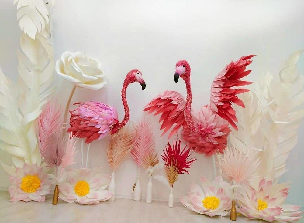 Розовый Фламинго из пеноплекса, фото № 2