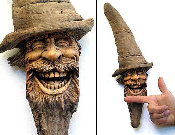 Нэнси Татл превращает коряги и обломки деревьев в сказочные деревянные скульптуры, фото № 21