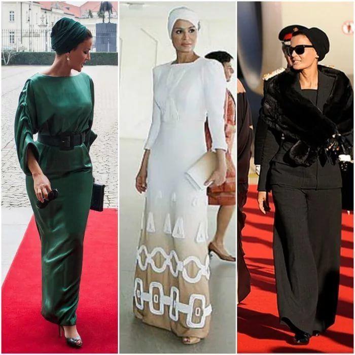 Самая модная женщина Востока. Так называют Шейху Мозу. Ее наряды и утонченный стиль, фото № 12