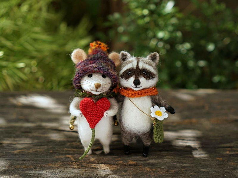 Mouse Stories: Adorable Felted Toys By Little Wool Tails, фото № 1