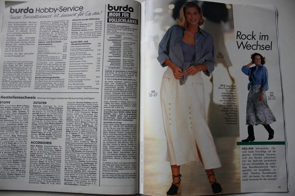 Бурда — спец. выпуск — мода для полных  -февраль 1994, фото № 12