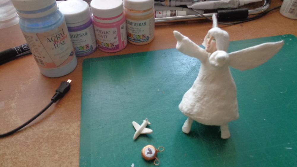 Как создать Ангела-хранителя полетов из ваты, фото № 16