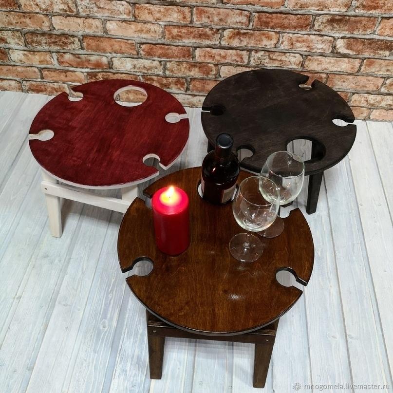 Обзор винных столиков от российских авторов-столяров, фото № 19