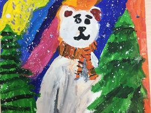 Рисуем с детьми северного мишку. Поэтапно. Часть 1. Ярмарка Мастеров - ручная работа, handmade.
