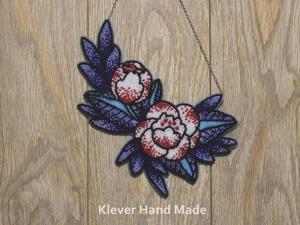 """Создаем колье из бисера """"Синие цветы"""". Ярмарка Мастеров - ручная работа, handmade."""