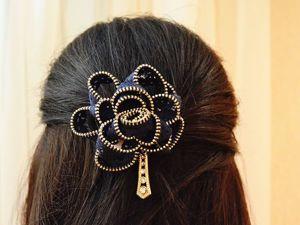 Видео мастер-класс: мастерим украшение для волос из молнии. Ярмарка Мастеров - ручная работа, handmade.
