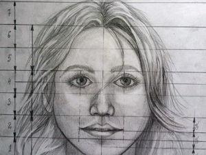 Учимся построению портрета лица девушки. Ярмарка Мастеров - ручная работа, handmade.