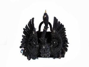 Сумочка  «Чёрный лебедь» . Финалист. Ярмарка Мастеров - ручная работа, handmade.