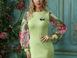 Видео-ролик, платье  «Лесной цветок»  светлая зелень. Ярмарка Мастеров - ручная работа, handmade.