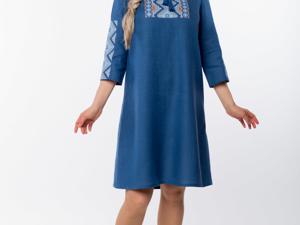 Платье Льняное Морское. Ярмарка Мастеров - ручная работа, handmade.