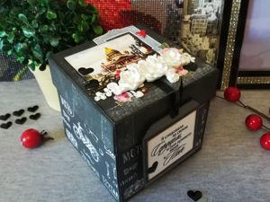 Видеобзор открытки-коробочки с сюрпризом. Ярмарка Мастеров - ручная работа, handmade.