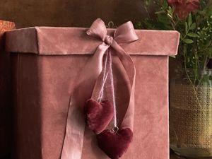 Делаем бархатные сердца для декора. Ярмарка Мастеров - ручная работа, handmade.