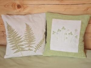 Как сделать отпечатки растений на ткани. Ярмарка Мастеров - ручная работа, handmade.