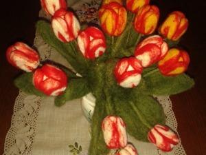 Два варианта валяния букета из тюльпанов. Ярмарка Мастеров - ручная работа, handmade.