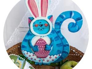Кошачьи мечты о пасхальном кролике. Ярмарка Мастеров - ручная работа, handmade.