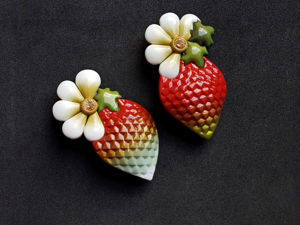 Creating ''Strawberry'' Brooch from Polymer Clay. Livemaster - handmade