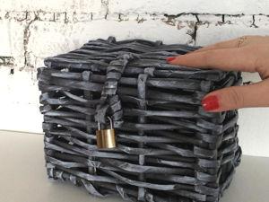 Плетение из газетных трубочек Простой сундучок. Ярмарка Мастеров - ручная работа, handmade.