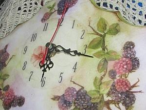 """Часы для кухни """" Ежевичные"""". Ярмарка Мастеров - ручная работа, handmade."""