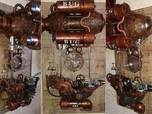Мастерим стимпанк-часы «Прогулочный катер 404 ВUG (Жучок)». Ярмарка Мастеров - ручная работа, handmade.
