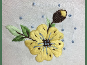 Вышиваем нежный цветок. Ярмарка Мастеров - ручная работа, handmade.