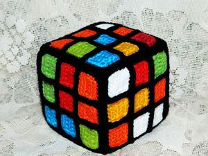 Мастер-класс: вяжем яркий сувенир — кубик Рубика. Ярмарка Мастеров - ручная работа, handmade.