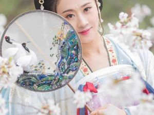 Beautiful Fan with Cranes by Chinese Studio Jiaran. Livemaster - handmade