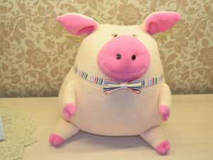 Текстильный поросенок — подушка и игрушка!. Ярмарка Мастеров - ручная работа, handmade.