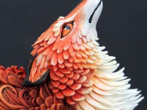 Процесс создания лисы из бархатного пластика. Ярмарка Мастеров - ручная работа, handmade.