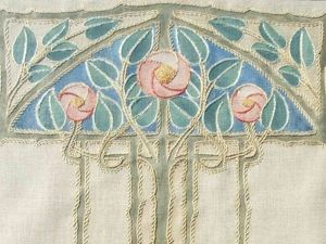 Wonderful Art Nouveau Embroidery by Ann Macbeth. Livemaster - hecho a mano - handmade.