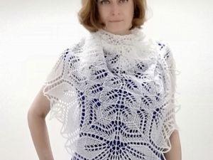 Как вязать треугольные шали спицами. Урок 2. Ярмарка Мастеров - ручная работа, handmade.