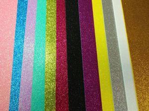 Поступление глиттерного фоамирана 2 мм, 24 цвета. Ярмарка Мастеров - ручная работа, handmade.