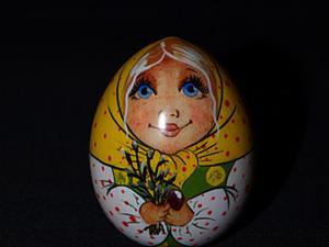 Пасхальное яйцо-матрёшка. Часть 2. Лицо. Пишем объемы.. Ярмарка Мастеров - ручная работа, handmade.
