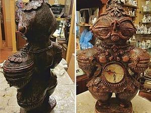 Скульптура Догу из папье-маше.. Ярмарка Мастеров - ручная работа, handmade.