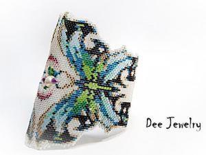 Учимся плести из бисера фигурную мозаику. Ярмарка Мастеров - ручная работа, handmade.