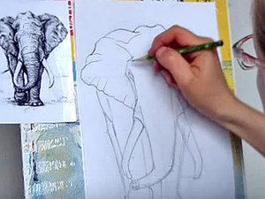 Уроки рисования для начинающих: как нарисовать слона карандашом. Ярмарка Мастеров - ручная работа, handmade.