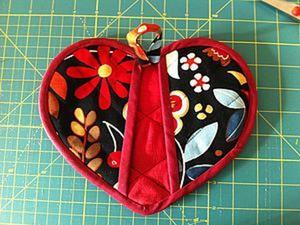 Изготавливаем прихватки в форме сердца. Ярмарка Мастеров - ручная работа, handmade.