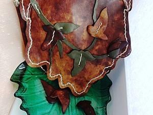 """Сумка из кожи """"осенние листья"""". Часть 2.. Ярмарка Мастеров - ручная работа, handmade."""