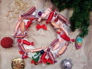 Мастерим необычный рождественский венок. Ярмарка Мастеров - ручная работа, handmade.