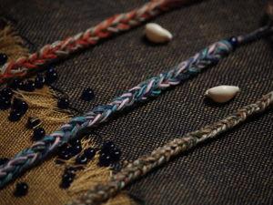 Плетем браслет на вилке. Ярмарка Мастеров - ручная работа, handmade.