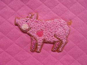 Вышиваем поросенка узелками. Ярмарка Мастеров - ручная работа, handmade.